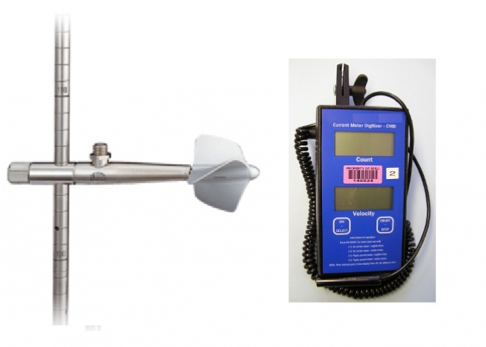 Water Velocity Meter : Open channel flow meters