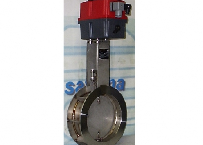 Butterfly Damper Valve for flue gas up to 1000°C