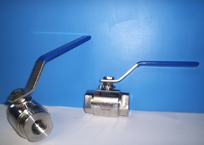 2-way Stainless Steel Ball Valves, 1-Piece