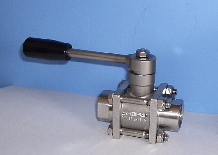 2-way stainless steel ball valves, 3-Piece