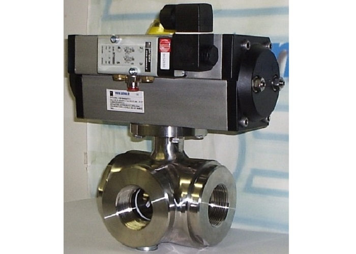 3-way Stainless Steel Ball Valves, 1-Piece
