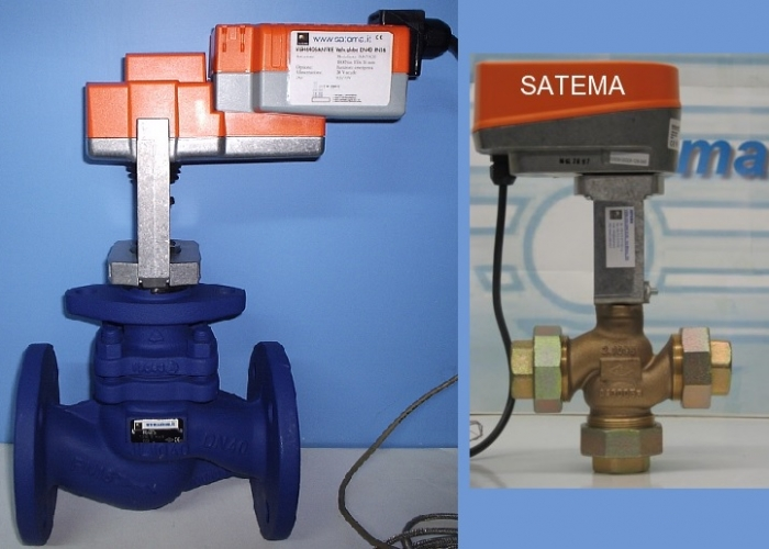 2-way, 3-way Globe Valve for modulating or On-Off electric actuator - 120°C
